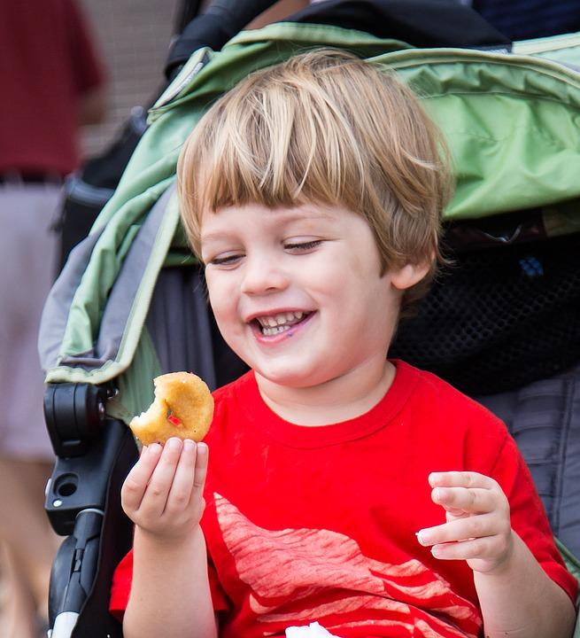 Smile Boy Kid Happiness Happy Donut Food Joy